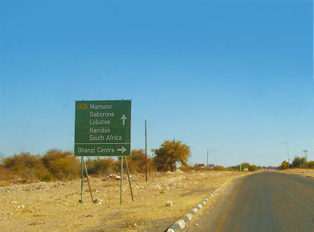 route a2 au botswana