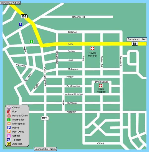 Gobabis map