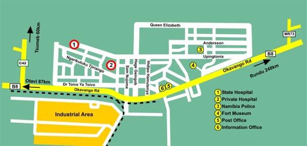 Grootfontein map