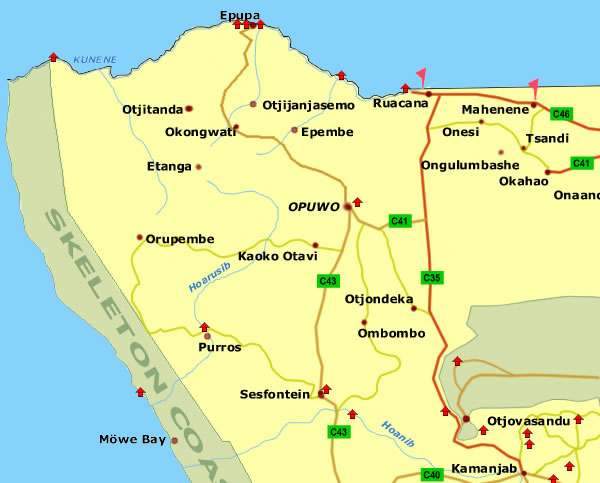 map of kaokoland