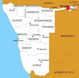 Kongola location