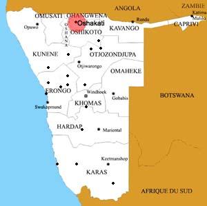 Oshakati location