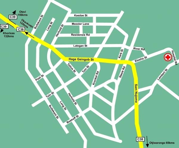 Outjo map