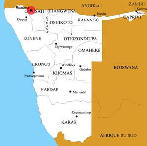 Ruacana location