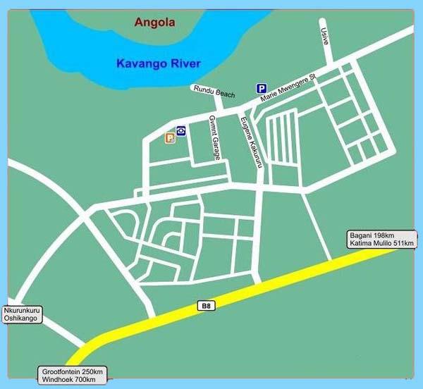 Rundu map