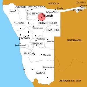 Tsumeb location