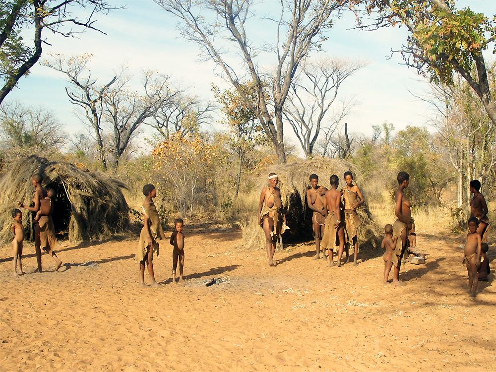 Traditional Bushmen village