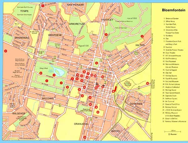 Bloemfontein map