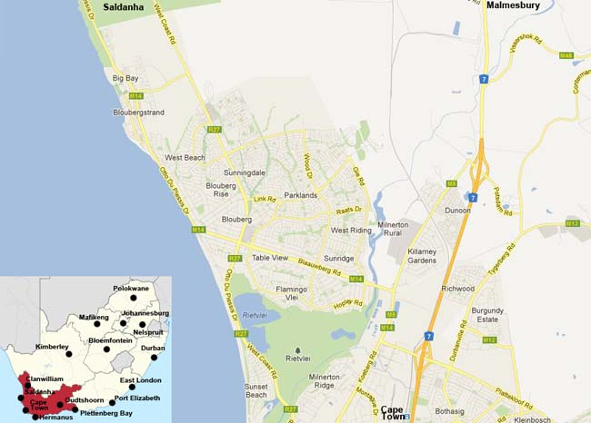 Blouberg map