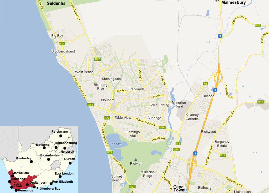 Bloubergstreet map