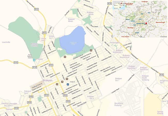 Brakpan map