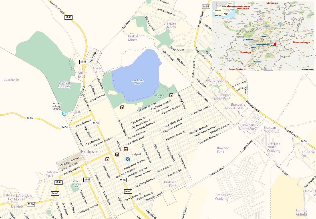 Brakpan street map