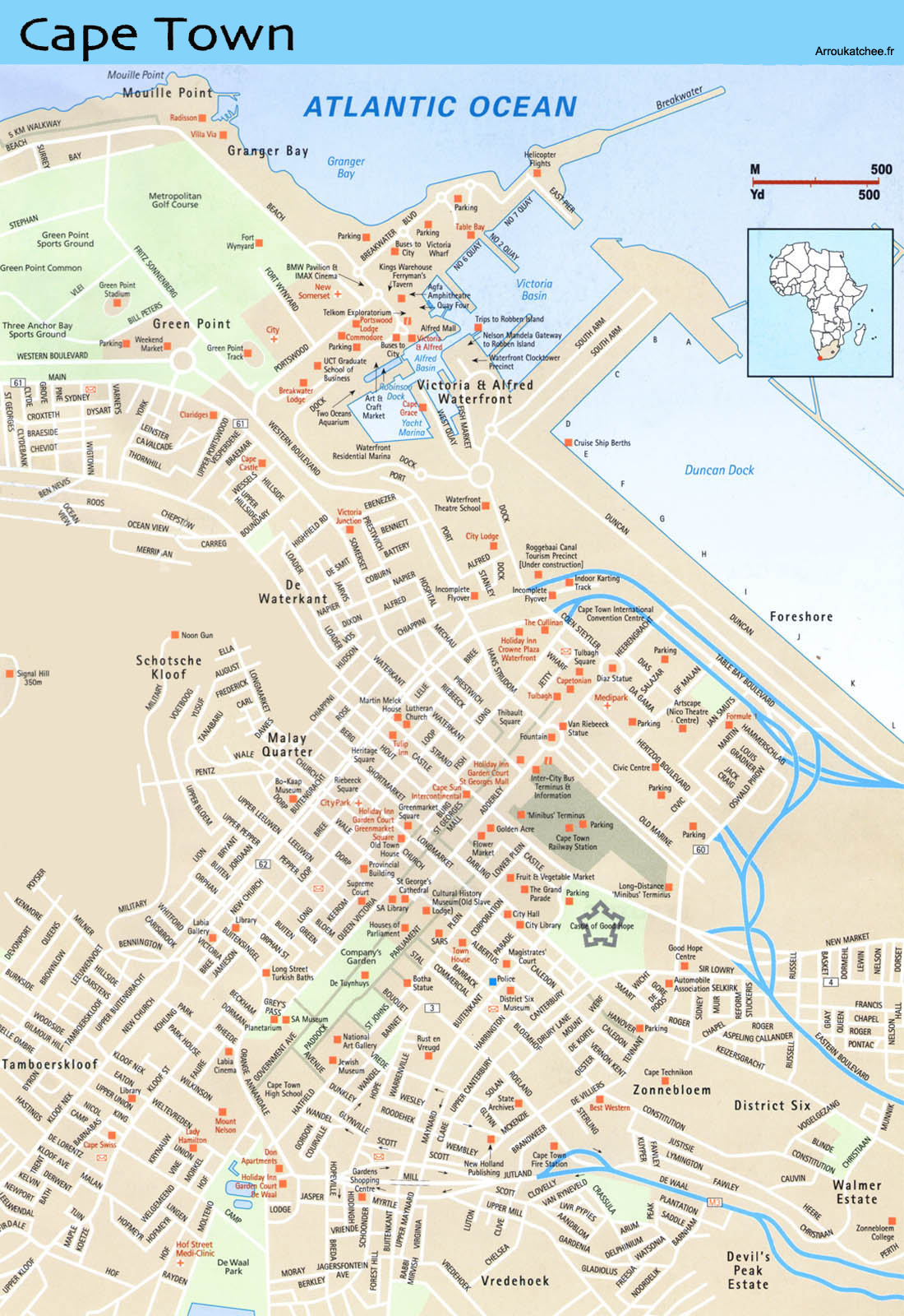 Cape Townstreet map