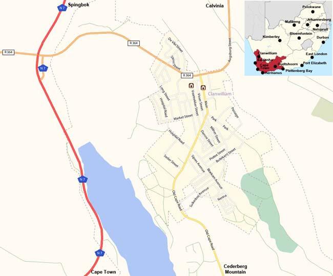 Clanwilliam map