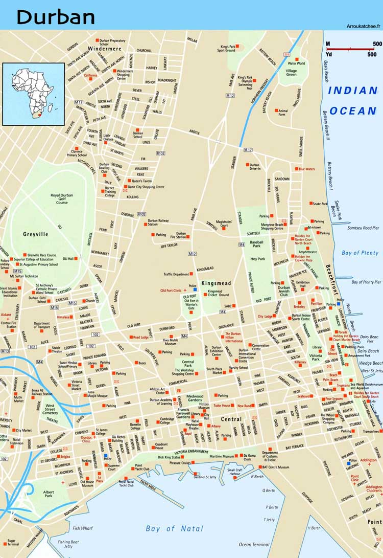 Durban map