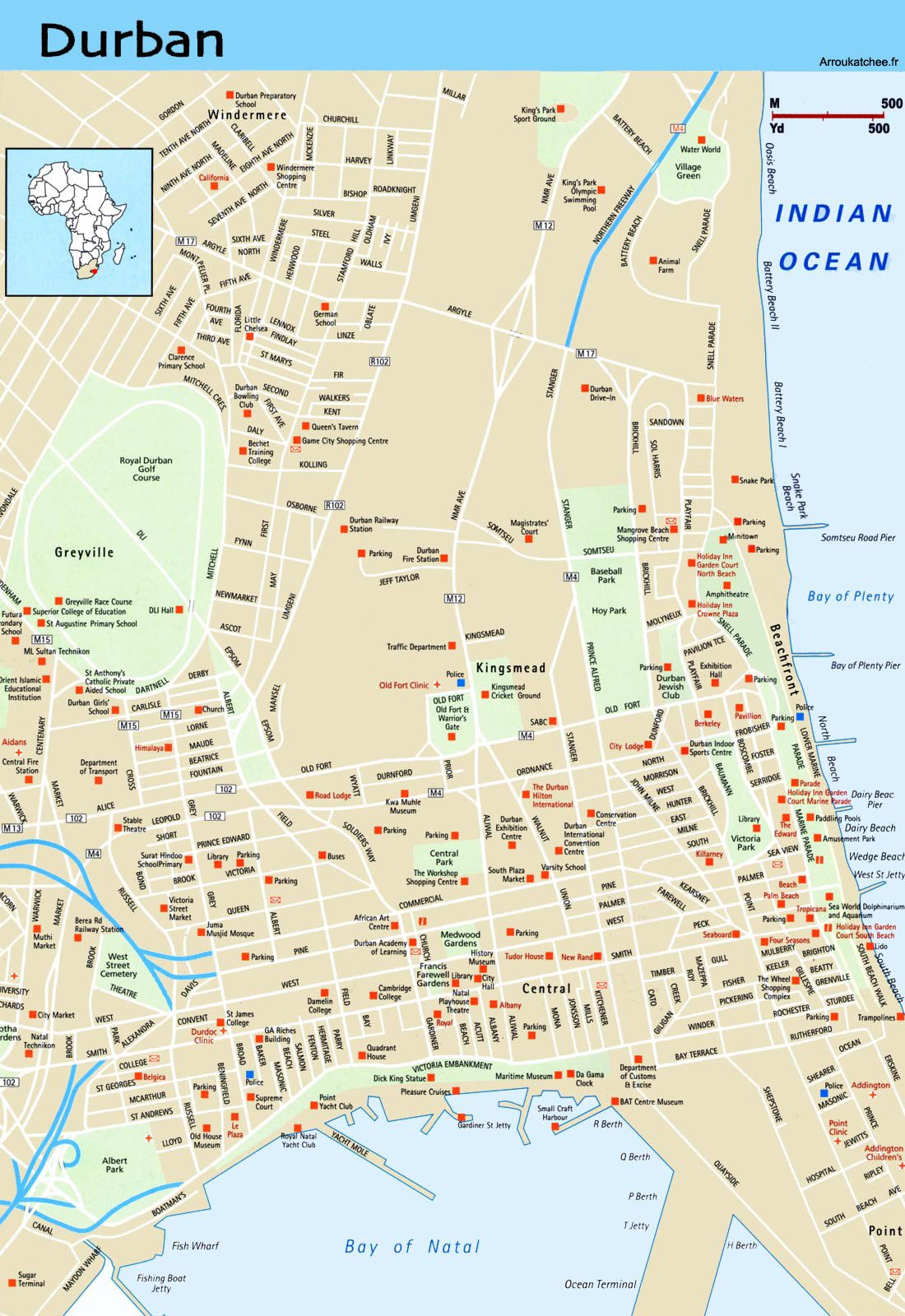 Durban street map