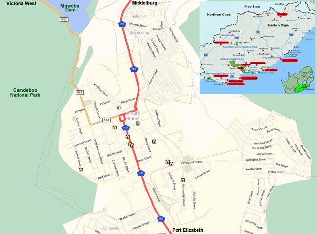 Graaff Reinet map