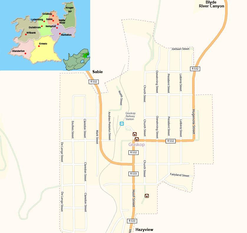 Graskop street map