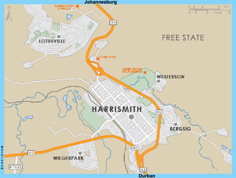 Harrismith street map