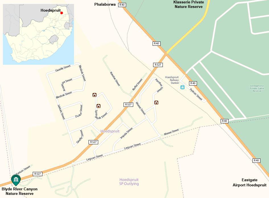 Hoedspruit street map