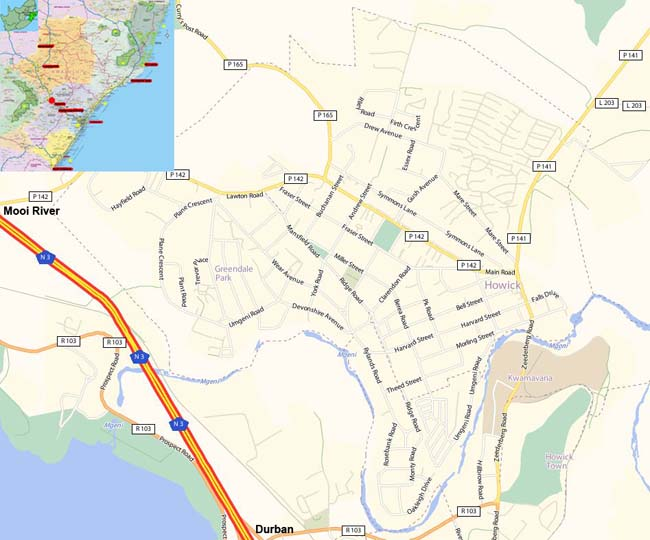 Howick map