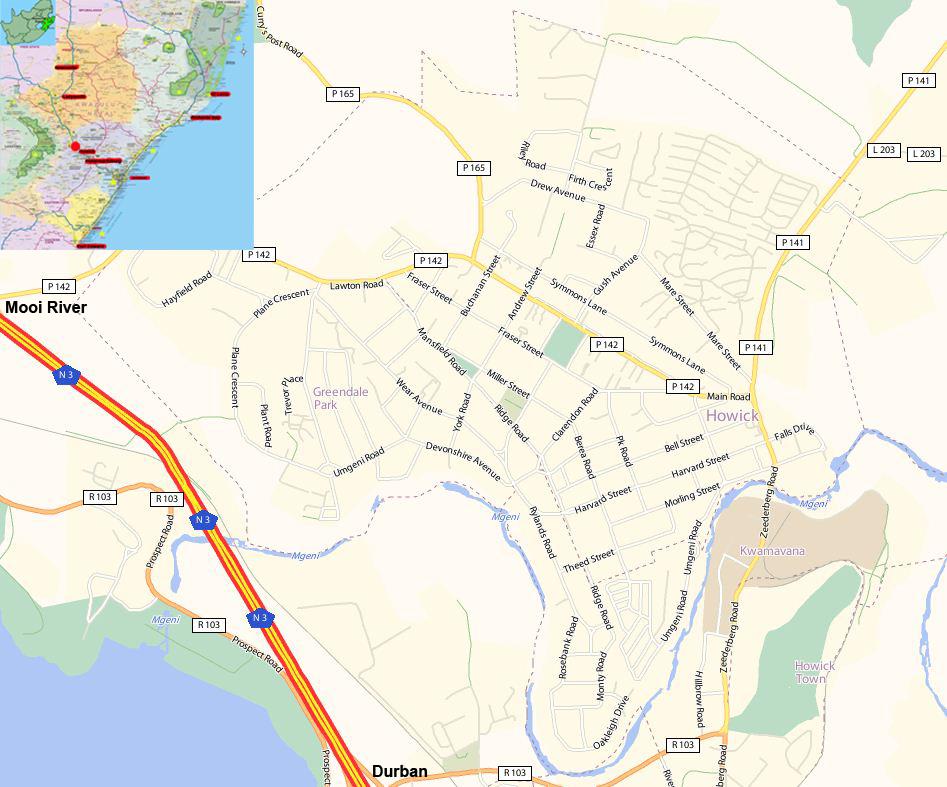 Howick street map