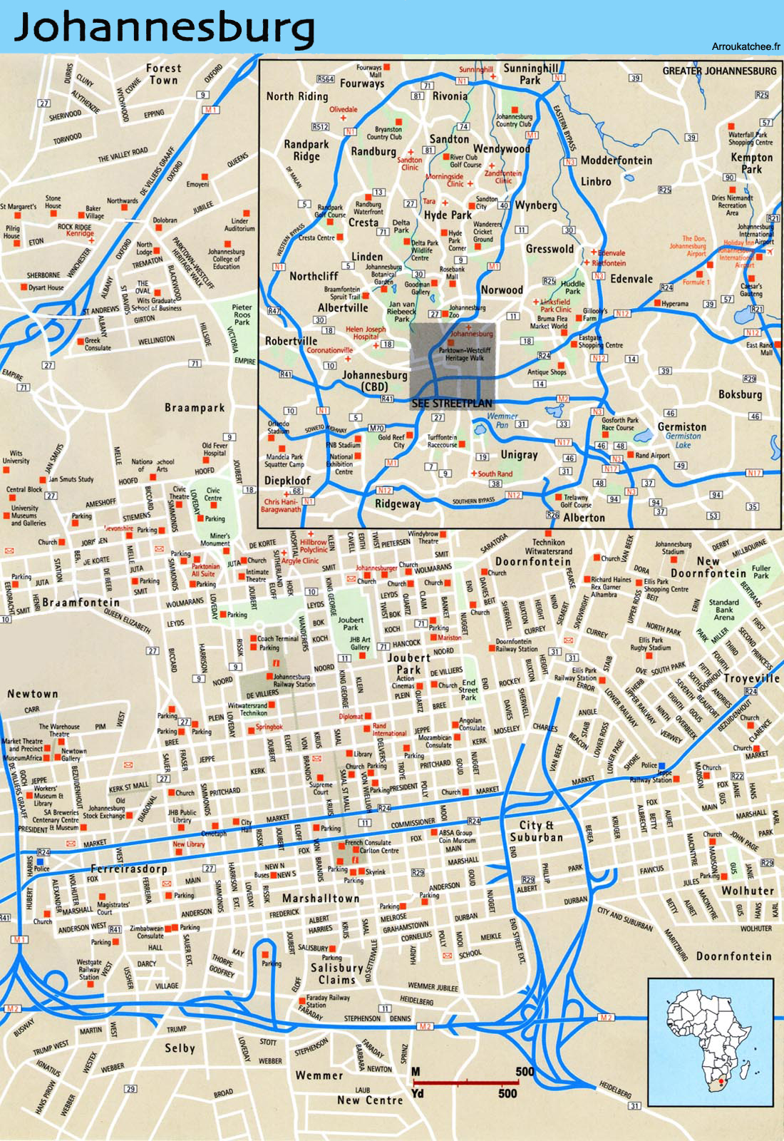 Johannesburg street map