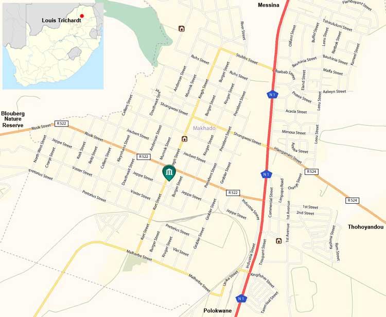 Louis Trichardt map