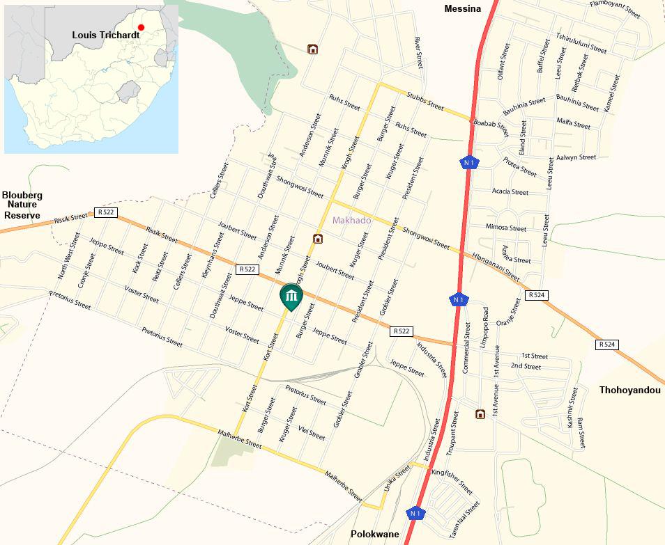 Louis Trichardt street map