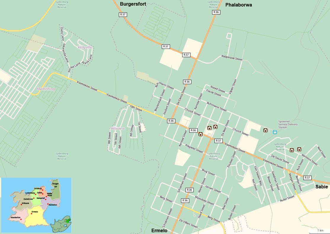 Lydenburg street map