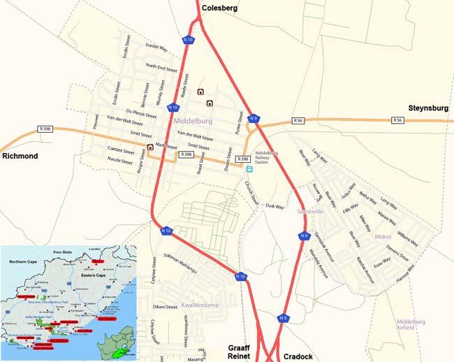 Middelburg map