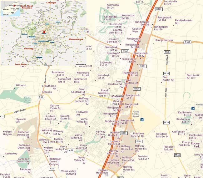 Midrand map