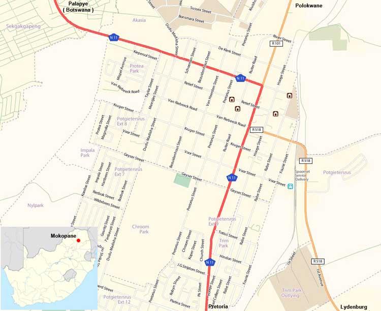 Mokopane map