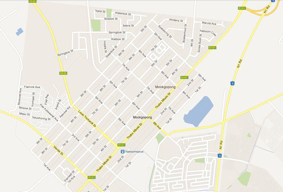 mookgophong street map