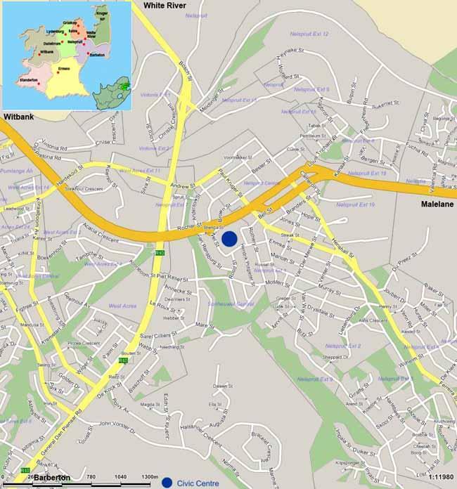Nelspruit map