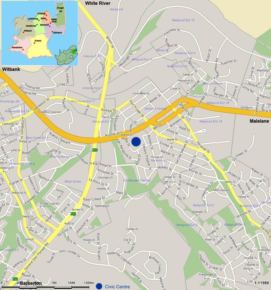 Nelspruit street map