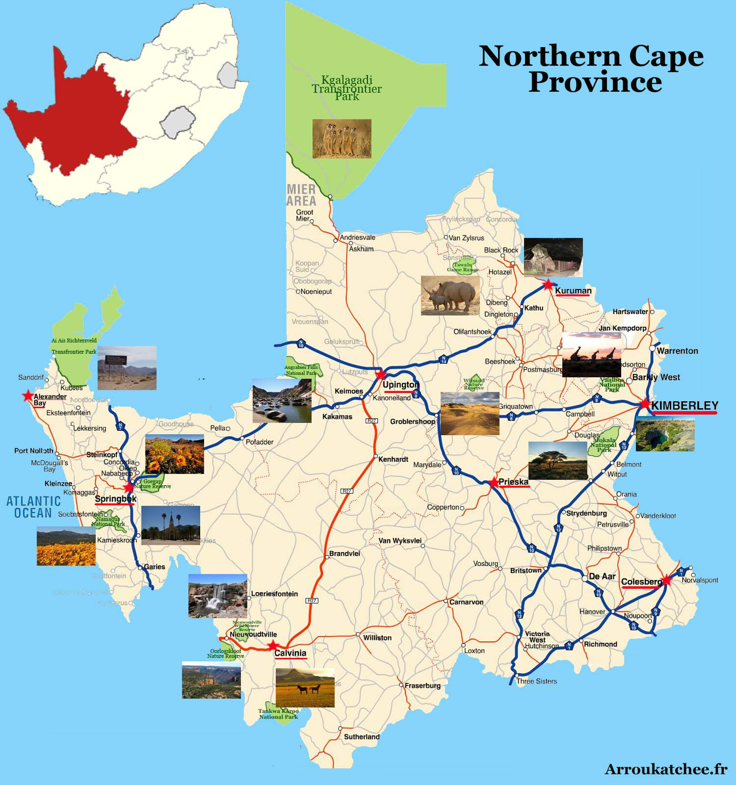 south africa map northern cape