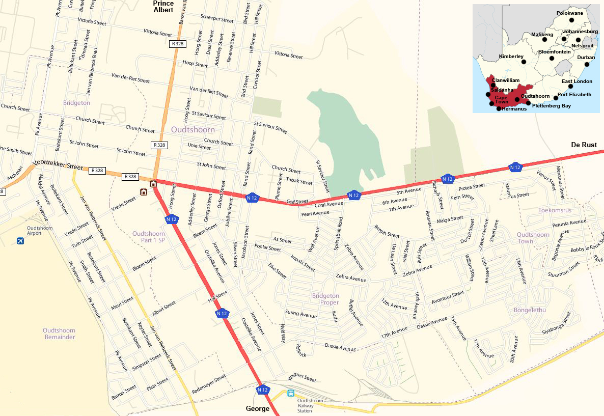 oudtshoorn street map