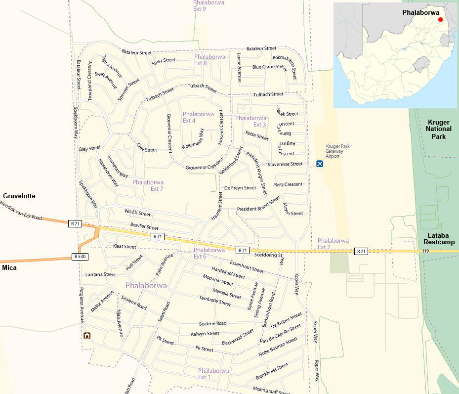 Phalaborwa street map