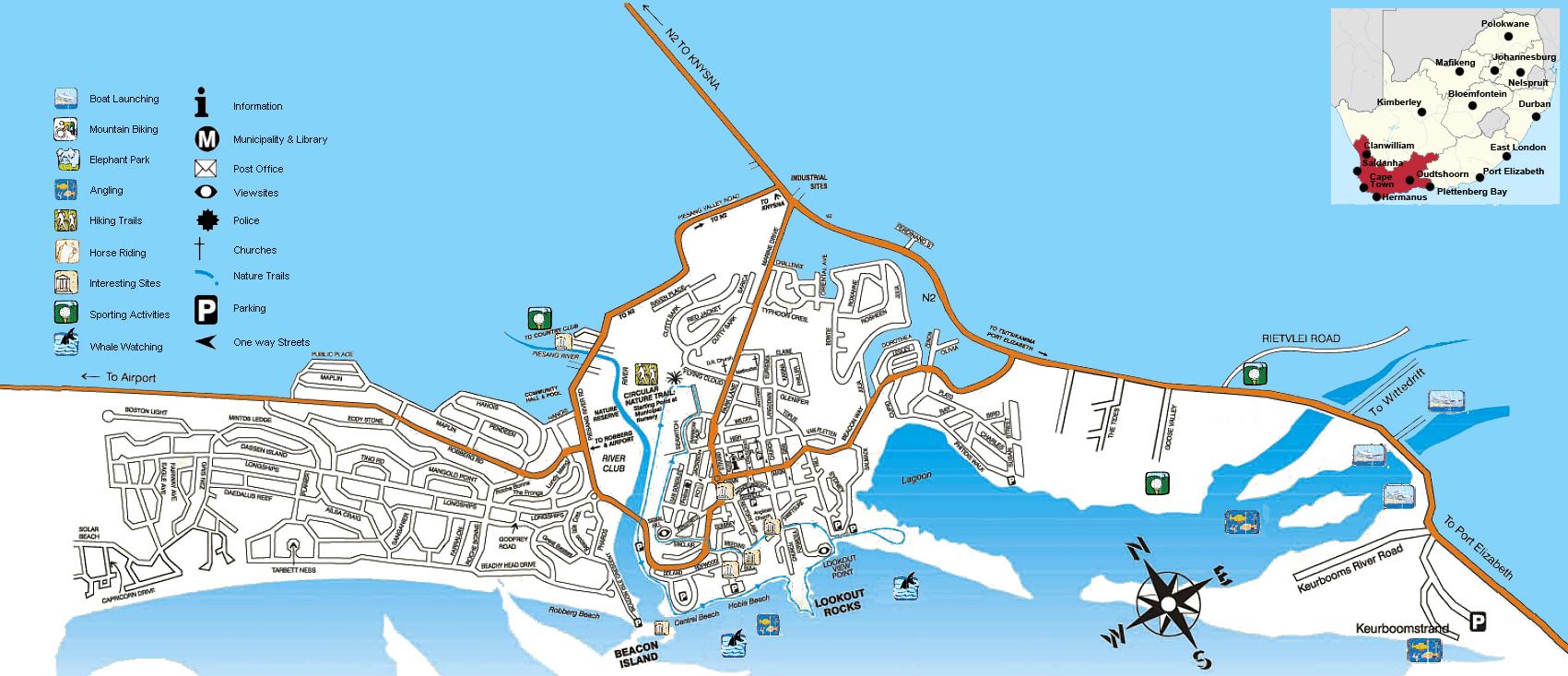 Plettenberg Bay street map