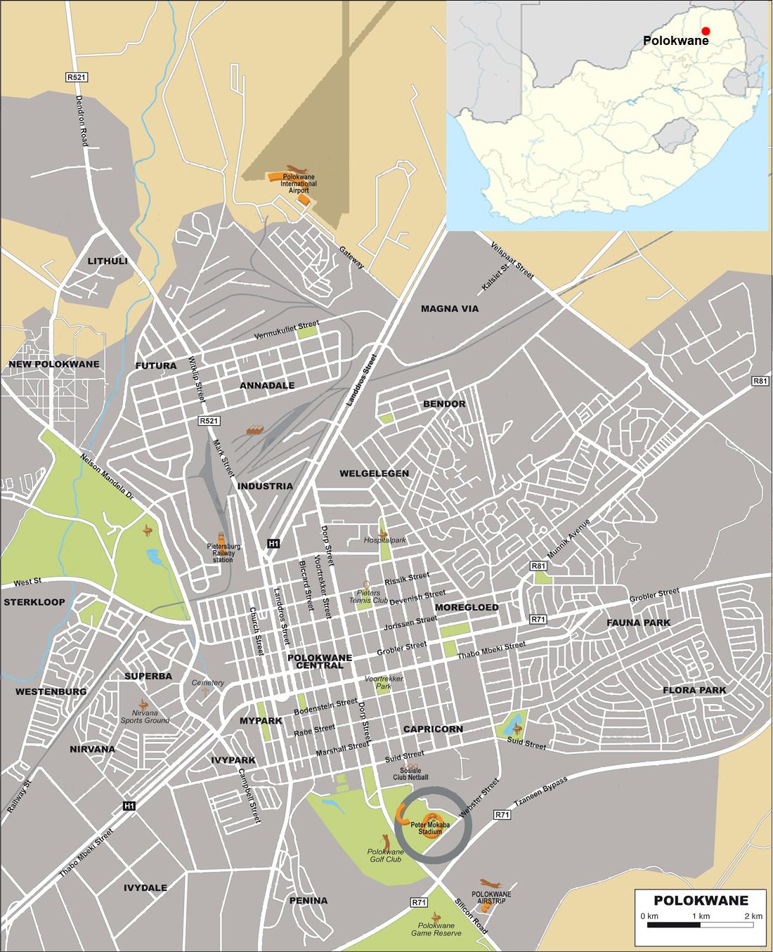 Polokwane street map