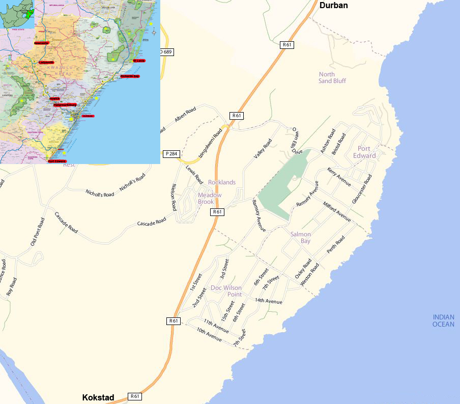 Port Edward street map
