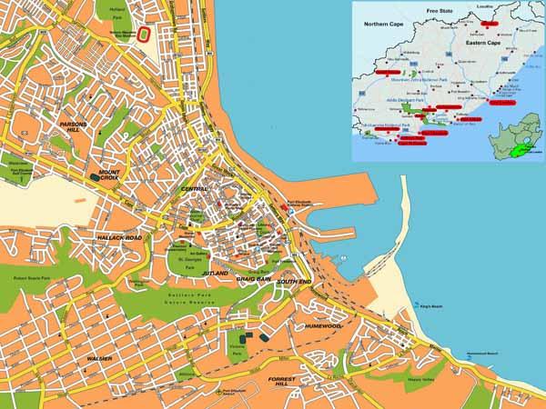 Port Elizabeth map