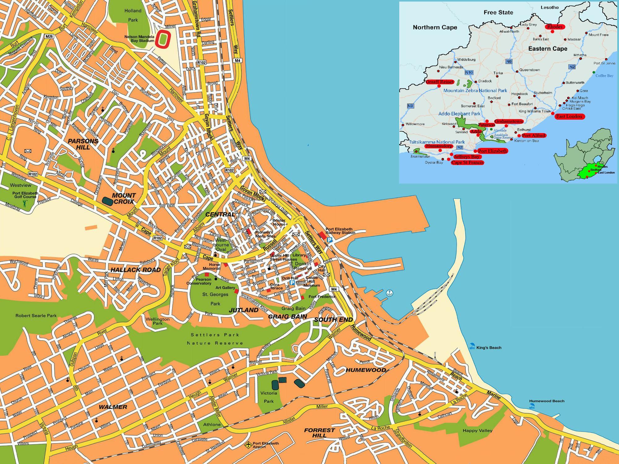 Port Elizabeth street map