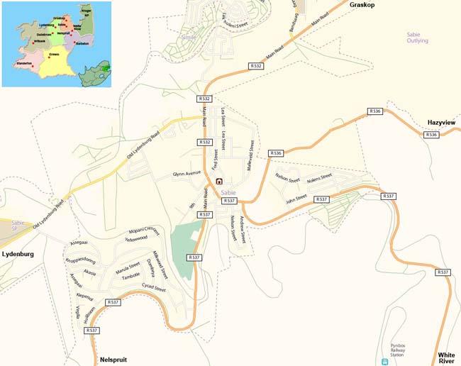 Sabie map