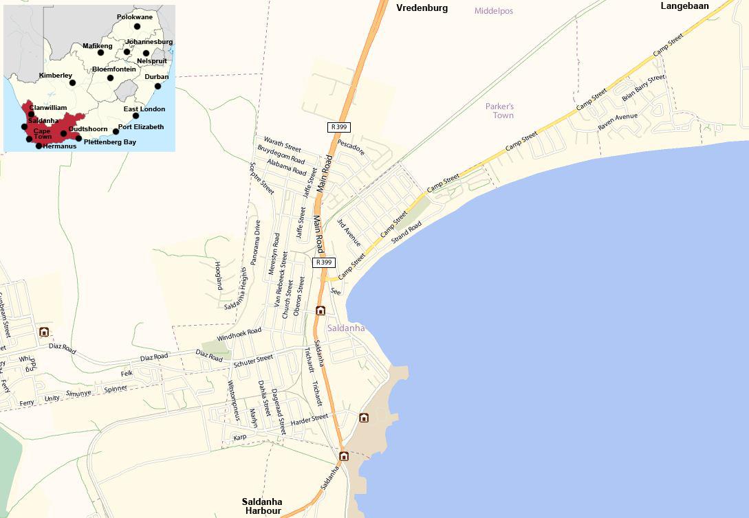 Saldanha street map
