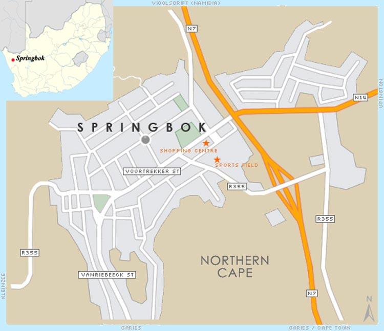 Springbok map