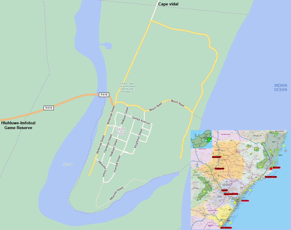 St Lucia street map