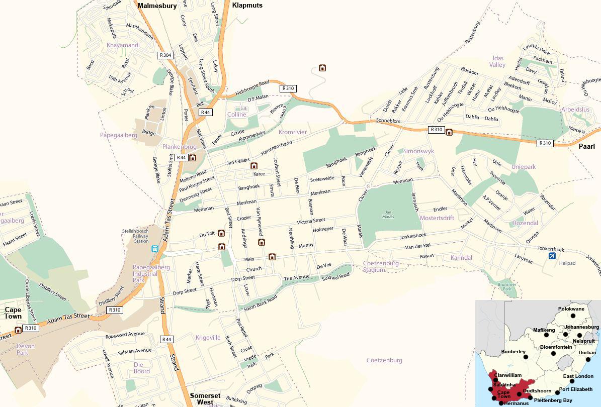 Stellenbosch street map
