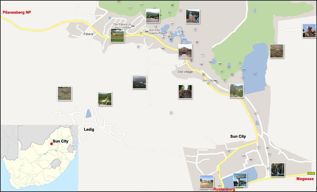Sun City street map